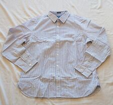 NWT Mens American Eagle AE Blue and White Striped Button Up Shirt Size Large