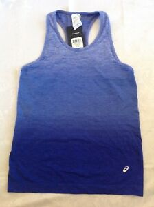 Asics Womens Athletic Top Ombre Blue Size Large New With Tag