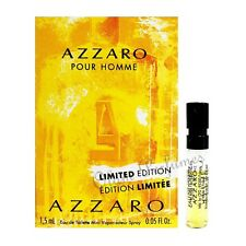 Azzaro Pour Homme Limited Edition Eau de Toilette Vial Sample Spray 0.05oz 1.5ml
