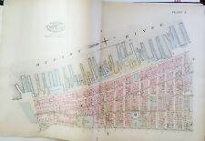 1885 ROBINSON COPY ATLAS MAP LOWER WEST SIDE MANHATTAN TRINITY CHURCH BROADWAY