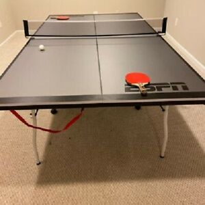 ESPN Mid Size 15mm 4-Piece Indoor Tennis Table Accessories Included Ping Pong
