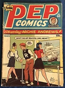 Pep Comics #60  March 1947  Early Archie