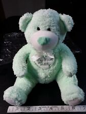 Baby Boom My First Teddy Bear Plush Stuffed Animal Mint Green Soft Toy Bow gifts