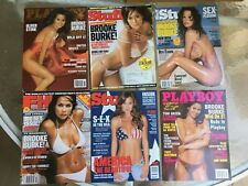 Lot Of 6 Brooke Burke Magazines  2 Playboy 1 FHM 3 Stuff