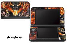 Skin Decal Wrap for Nintendo 3DS XL Gaming Handheld Sticker 12-15 FIRESTORM BLK