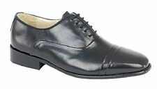 Montecatini Mens Black Leather Smart Lace Up Shoes UK 8 EU 42 LN16 45