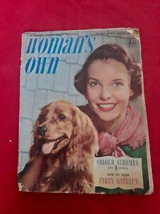 Vintage Woman's Own Magazine Home Lifestyle Fashion ~January 12th 1956