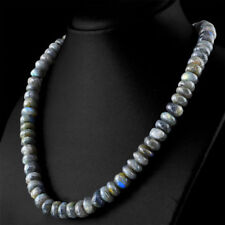 Edelsteinkette Schwarz Labradorit(Labradorite) 50cm Collier Halskette 10mm Perle