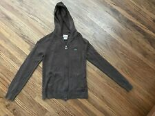 Lacose Zippered Front Ladies Hooded Brown Sweaer Size 38