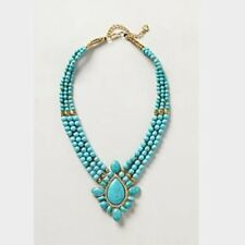 Anthropologie Azolla Turquoise Bib Necklace NWOT