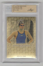 JESSICA LONG 2017 Leaf Metal Sports Heroes SUPER PRISMATIC GOLD 1 of 1 BGS 1/1