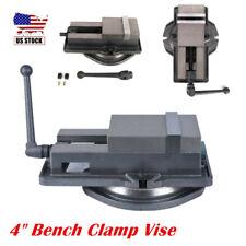 4 Milling Machine Lockdown Vise 360 Degree Swiveling Base Cnc Bench Clamp Vise