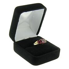 Black Velvet Engagement Ring Box Display Jewelry Gift Box Classic Style
