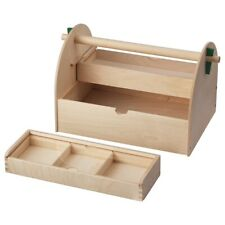 IKEA Lustigt Arts and Crafts Storage Caddy SOLID WOOD 003.845.26 NEW-