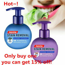 1pc Natural Intensive Stain Remover Whitening Baking Press Soda Toothpaste U4D7