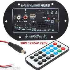 Car Truck Bluetooth Subwoofer Hi-Fi Power Amplifier Board Universal 12V/24V 30W