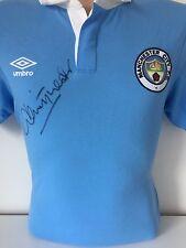 Dennis Tueart Manchester City Signed Shirt + COA + PROOF MAN CITY 1976 FINAL