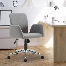 Bürostuhl Drehstuhl Bürosessel Chefsessel Armsessel Schreibtischstuhl Stoff Grau