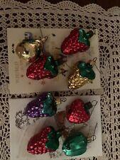 New ListingVintage Estate Grandmas Glass Fruit Christmas Ornaments 8 Pieces