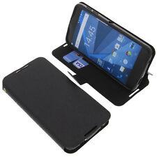 Tasche für Blackberry DTEK50 Book-Style Schutz Hülle Handytasche Buch Schwarz