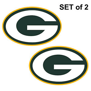 """Set of 2  Green Bay Packers Cornhole Board Decals NEW """"17 x 11"""" Large"""