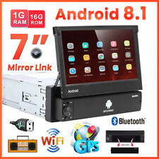 7'' 1Din Android 8.1 Autoradio GPS Navi Wifi Bluetooth Touch Screen MP5 USB FM