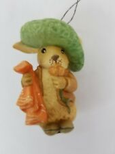 Vintage Beatrix Potter Benjamin Bunny Christmas Ornament 1980 F. Warne Italy