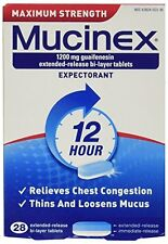 2 Pack - Mucinex Maximum Strength Extended-Release Bi-Layer Tablets, 28 Each