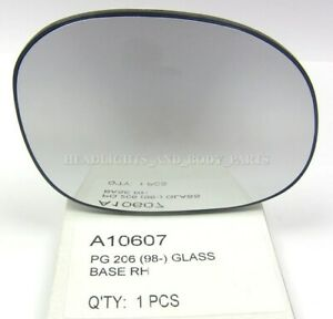 New!!!Fits for Peugeot 206 1007 Xsara Picasso C2 C3 Door Mirror Glass Side Right