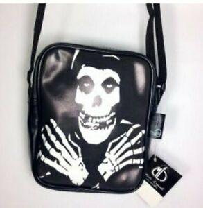 Skull/Misfits/Horror/Goth Small Shoulder Bag Student/Musician/Rock/Punk