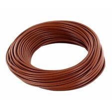 Ring 10m Kupferdraht 0,5mm isoliert Kabel Draht Schaltdraht braun 860266
