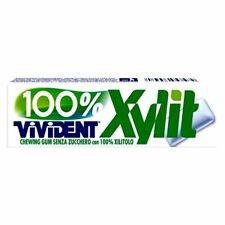 40 Stick Vivident Xylit White 100% Xylitolo Senza Zucchero