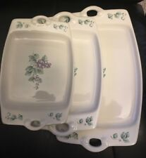 PFALTZGRAFF GRAPEVINE 3 PIECE TRAY SERVER SET NEW