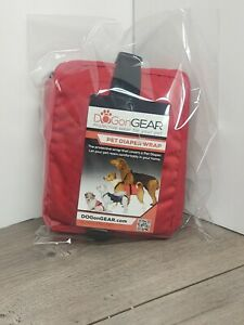 Dogon Gear Pet Diaper Wrap X-Small Red