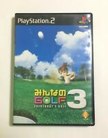 USED PS2 Minna no Golf 3 JAPAN Sony PlayStation 2 import Japanese Everybody's