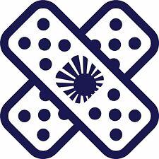 2 x JDM Sol Naciente banda de corte de vinilo Jdm Deriva del logotipo de ayuda ETIQUETA calcomanías 100x100mm
