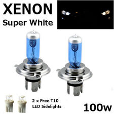 H4 100w SUPER WHITE XENON 472 UPGRADE HID LOOK Headlight Bulbs 12v +sidelights D