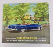 CHRYSLER WINDSOR & WINDSOR DELUXE MODELS Car Sales Brochure USA Oct 1952 #CS-298