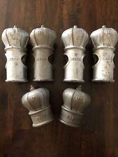 6 LOT 4 - 6.5 & 2 Caps VTG King Crown Fence Post/Caps Cast Metal 1950's 1 3/4