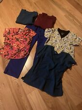 Lot Of 6 Scrubs 5 Tops And 1 Pant All Medium Sized