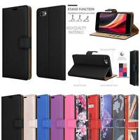 For Apple iPhone SE 11 Pro XR XS Max Leather Wallet Case Cover + 9H Screen Glass