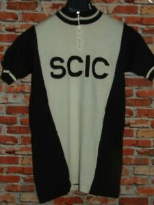 Shirt Bike Shirt Maillot Cycling Heroic Vintage 70'S Scic 50% Wool Embroidered