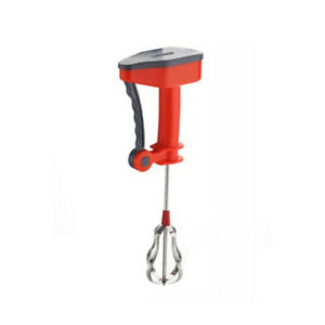 Caremax Red And Grey Power Free Plastic Hand Blender free shiping