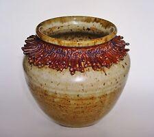 Wichita, KS artist: Howard A. Jacob (1915-2007) Studio Art Pottery Vase Vessel