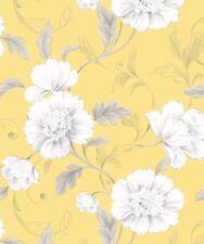Rollos de papel pintado liso Rasch color principal amarillo