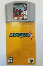 Star Fox 64 (Nintendo 64, 1997) Game with Manual