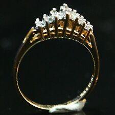 WOMENS DIAMOND WEDDING BAND 14KY GOLD .25CT I/SI2 PRONG