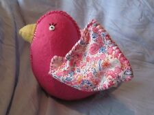Pottery Barn Kids Pink Floral Felt Hanging Bird NWT Room Decor Ceiling Mobile