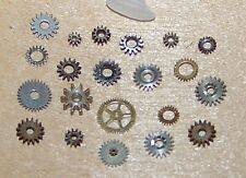 20 Tiny Small Variety STEAMPUNK GEARS Cogs ONLY Mixed Lot Watch Parts Pieces