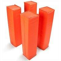 Anchorless Weighted Orange Football Pylons, 4-pack